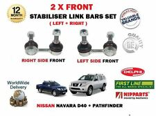 FOR NISSAN NAVARA D40 + PATHFINDER 2005-> 2X FRONT LH+RH STABILISER LINK BAR SET