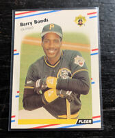 Barry Bonds 1988 Fleer Glossy #322 Pittsburgh Pirates Giants