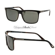 5b2e84f6177a Tom Ford Sunglasses Matt Black Gold Rectangle Green Polarized KARLIE TF392  01R
