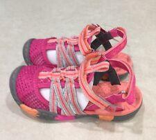 "JambuKD ""Rhea"" Big Kid Girl's Pink/Coral Closed-Toe Sandals~~Size 11M"