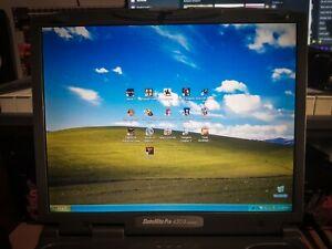 Toshiba Satellite PRO 4300 laptop retro strategy gamer 16 games Windows xp