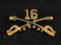 """🌟US Army 16th Cavalry Regimental Crossed Sabres, Large 2"""" Inch Hat Lapel Pin"""