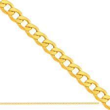 "MEN'S CURB CHAIN CUBAN LINK 14k YELLOW GOLD 585 14ct ~18inch 18"" 45cm wide 2,5mm"