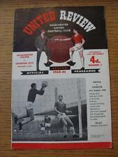 10/09/1960 Manchester United v Leicester City  (Token Removed, Slight Sellotape