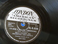 78rpm BILLY VAUGHAN i`d give a million tomorrows / theme from threepenny opera