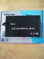 """Box HD 2,5"""" SATA Vektor USB3.0 Alluminio Black (UB-12)"""