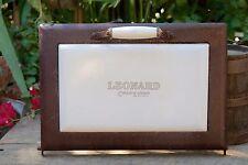Rare Leonard Antique Vintage Iron and Porcelain Stove Oven Door
