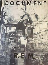 Rem R. E. M. Document Authentic & Rare Promo Poster 1987