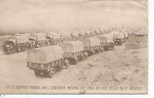 Army Supply Trains Will Keep Moving As Long As You Buy War Bonds Postcard c1943