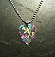 Zombie Skull Monster Guitar Pick Necklace Pendant Charm Horror Gift Present