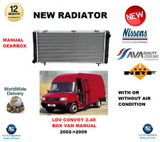 FOR LDV CONVOY BOX VAN MANUAL 2.4 D 2002->2009 NEW RADIATOR ** OE QUALITY **