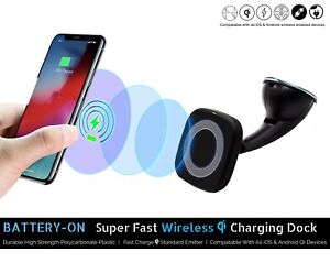 QI & MagSafe Wireless Car Charger & Docking Station for Iphone/Samsung/Android