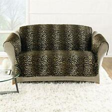 New Sure Fit Animal print leopard cat velvet furniture loveseat pet pad Throw