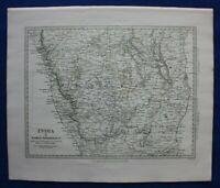 INDIA II MADRAS PRESIDENCY, BANGALORE, original antique map, SDUK 1844