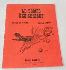 Partition : Le TEMPS des CERISES - Paroles J. B. CLEMENT & Musique  A. RENARD
