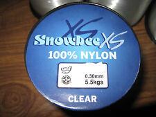1/4 LB Bulk Spool Snowbee XS 100% Clear Copolymer Nylon 25 Lbs 11.4 Kg 0.45mm