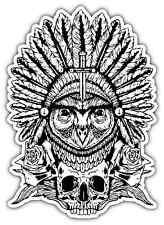 "Illuminati Owl Symbol Skull Car Bumper Vinyl Sticker Decal 3.8""X5"""