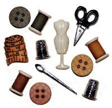 Macchine da cucire, stanza KIT pulsanti a forma di-Set di 12-DITALE FORBICI misura MULINELLO