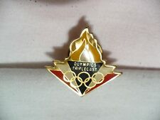Flame of the Olympic Games Pin NIP Olympic Triplecast and Rings on front  *
