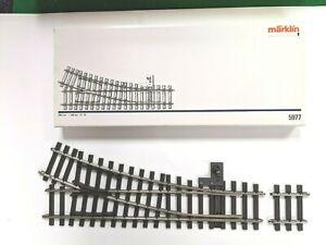 Marklin Maxi 1 5977 right hand 22 degree manual switch track  C-10 186946
