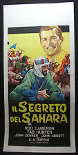 LOCANDINA CINEMA - IL SEGRETO DEL SAHARA - R. CAMERON - 1953 - AVVENTURA