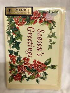 Box Of 20 Cards MED9179 Medici Luxury Christmas Cards 2 Designs Away In A Manger