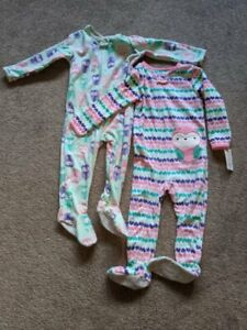 NWT~JUST ONE YOU CARTER'S~2 WINTER FLEECE ONE PIECE FOOTED SLEEPER ~PAJAMA~PJ~2T