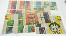 TCG TOPPS 1966 Batman Trading Cards Complete Set, Puzzle Back High Grade EX / NM