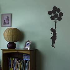 FLYING BALLOON GIRL BANKSY Vinyl Wall Sticker Art Decal Words Lettering DIY