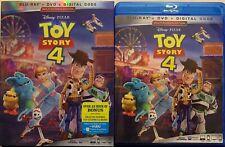 DISNEY PIXAR TOY STORY 4 BLU RAY + DVD & BONUS 3 DISC SET + SLIPCOVER SLEEVE BUY
