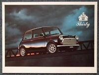 ROVER MINI 30 THIRTY Car Sales Brochure 1989 LIMITED EDITION