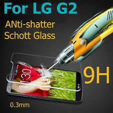 New Premium Real Toughened Tempered Glass Screen Protector Film for LG G2 D802