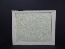 Vienna Austria or Constantinople Map Double-Sided W18#76