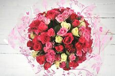 Fresh Real Birthday Flowers Delivered 100 PINK ROSES FREE UK Next Day by Post