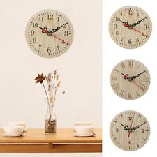 HD_ Retro Numbers Wooden Desktop Wall Clock Living Room Bedroom Home Decor Charm