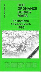 Old Ordnance Survey Map Folkestone & Romney Marsh 1893 - England Sheet 305