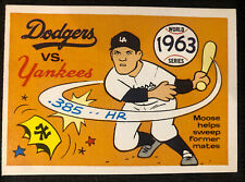 1970 Fleer Laughlin World Series BLUE BACK, 1963 Yankees/Dodgers, Pack Fresh!