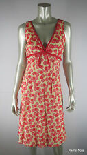 ELIZABETH WAYMAN Red Creme Polka Dot Saks Fifth Avenue Dress 8 M Medium EUC
