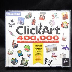 ClickArt 400000 Broderbund Images and Fonts 4 CD's Windows 98 XP