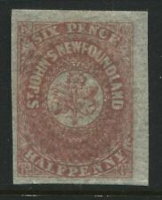 Newfoundland 1861 6 1/2d rose unused no gum