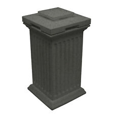 Good Ideas Savannah Column 30 Gallon Storage Waste Bin, Dark Granite (Open Box)