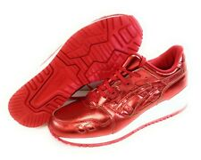 Womens Asics Gel Lyte III H6E5K 2121 Foil Red White Sneakers Shoes