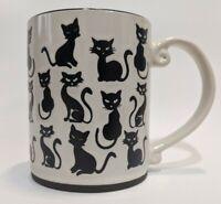 In Homestylez Curious Black Cat kitten Mug new Halloween cat orange inside