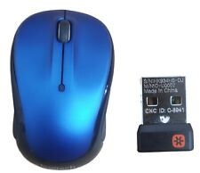 Logitech M325 Wireless Desktop Compact Optical Mouse Unifying USB Receiver Blue