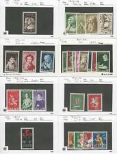 Saar Germany, Postage Stamp, #B83//B126 Mint NH & Hinged, 1951-58, JFZ