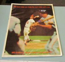 1970 Baltimore Orioles Detroit Tigers Baseball Game Program Jim Palmer HOF Cover