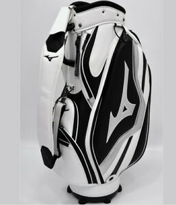"Mizuno 2019 RB Style Men Caddie Bag Cart 9.5"" 8.5lb 5Way PVC Enamel White+Sliver"