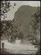 Glass Magic Lantern Slide CAR ON MOUNTAIN ROAD C1920 PHOTO NORTHERN ITALY ?