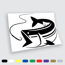 Adesivi in vinile Wall Stickers Prespaziati Pesca tonno big fish Auto Notebook