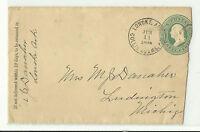 US Stamp 1800's Embossed on Cover/Envelope {Lonoke, ARK Postmark}